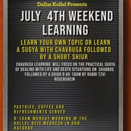 July 4th Weekend Learning