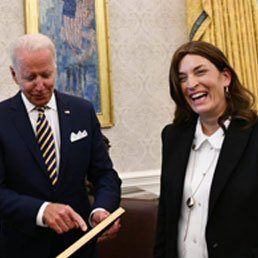 When President Biden Heard Rivlin's Aide Rivka Ravitz Is Mother Of 12, He Bowed Down To Her
