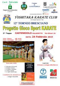 Locandina 3a tappa Progetto Gioco Sport KARATE - Castenedolo