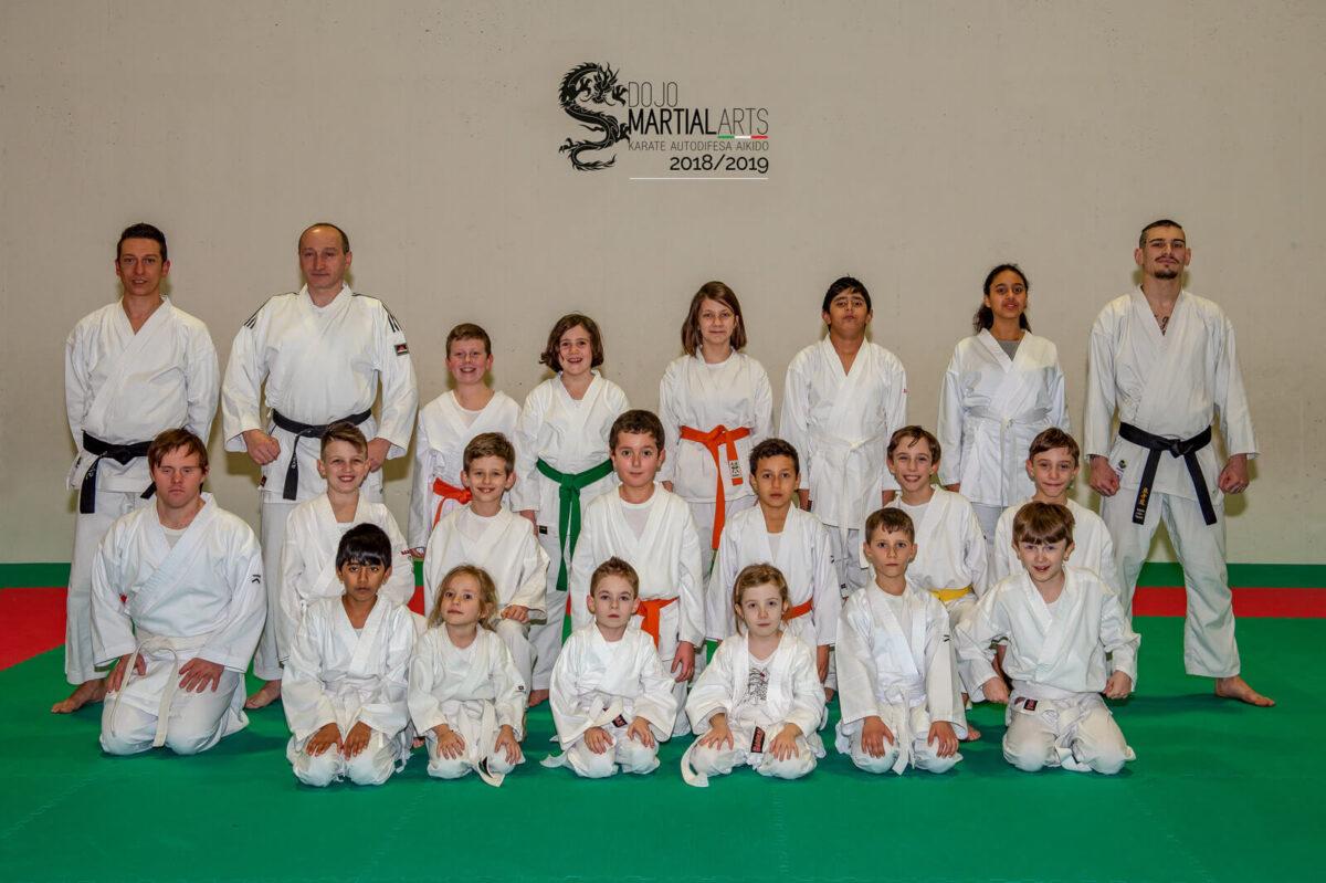 foto di gruppo del 5 febbraio 2019 dell'ASD Dojo Martial Arts