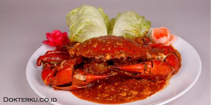 Kepiting merupakan makanan tinggi akan kadar zat purin via vemale.com