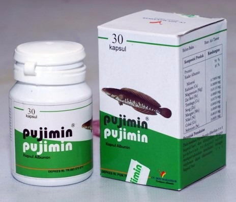 Kapsul Fujimin terbuat dari ekstrak Ikan Gabus