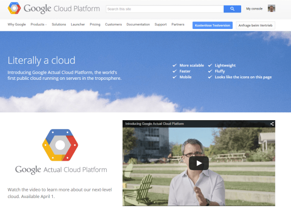 Google Actual Cloud Platform