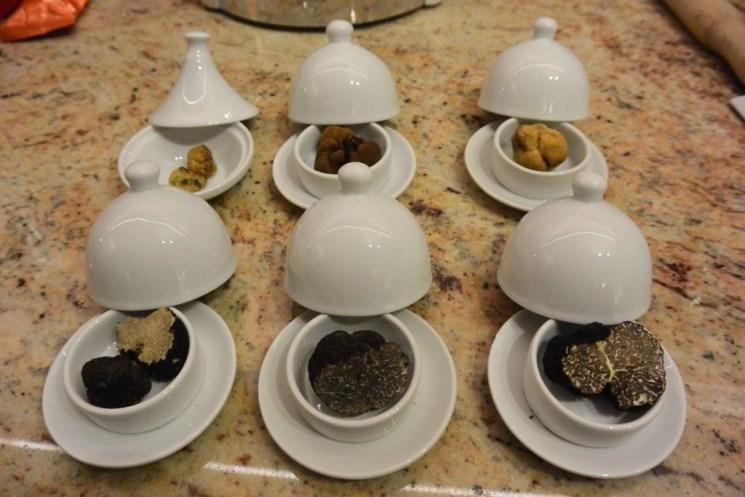 Sechs Trüffelsorten für das Trüffelseminar