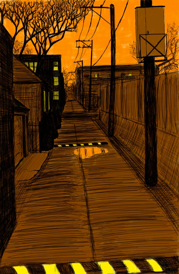 Alley Study 10 with Speed Bumps