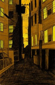 Alley Study 27 with Four Plus Ones