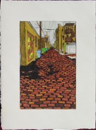 Alley with Pothole