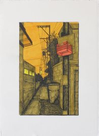 Alley with Basketball Hoop