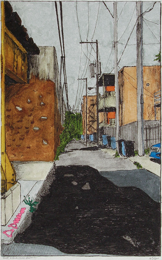 Alley with Missing Graffiti