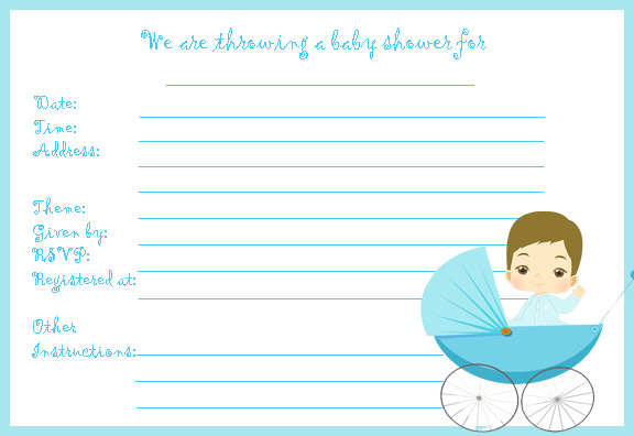 Printed Baby Shower Invitations Cheap