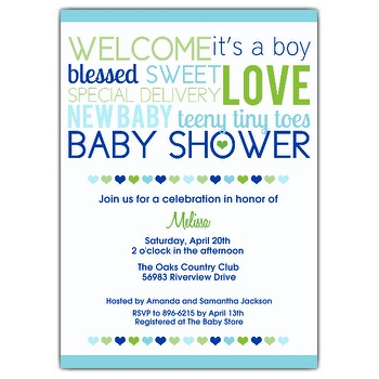 Baby Boy Shower Invitation Wordings
