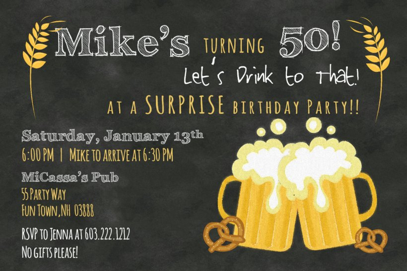 Free Printable 50th Birthday Invitations Dolanpedia