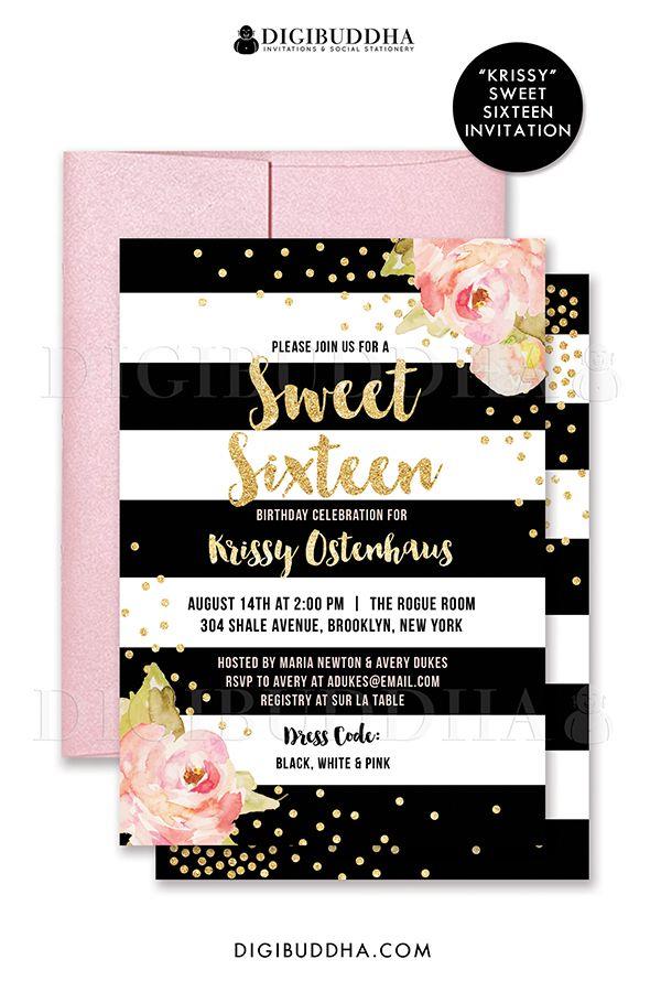 sweet 16 birthday invitations free