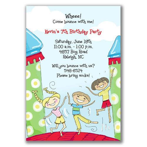 birthday party invitations for bounce house Cogimbous