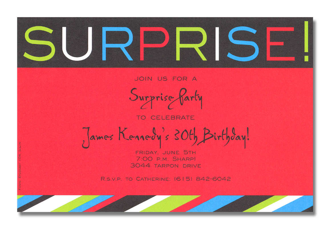 Surprise Party Invitation Word Templates – Party Invitation Word Template