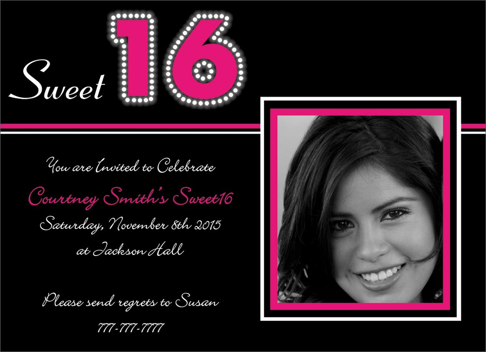 Sweet 16 Templates. 1000 images about sweet 16 invitation ...