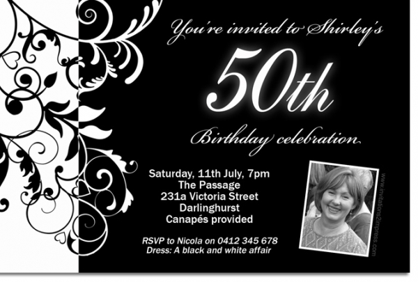 black and white birthday party