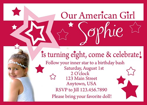 American girl themed party invitations invsite american girl doll birthday party invitations dolanpedia filmwisefo