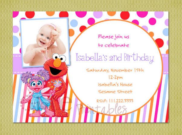 elmo and abby birthday invitations