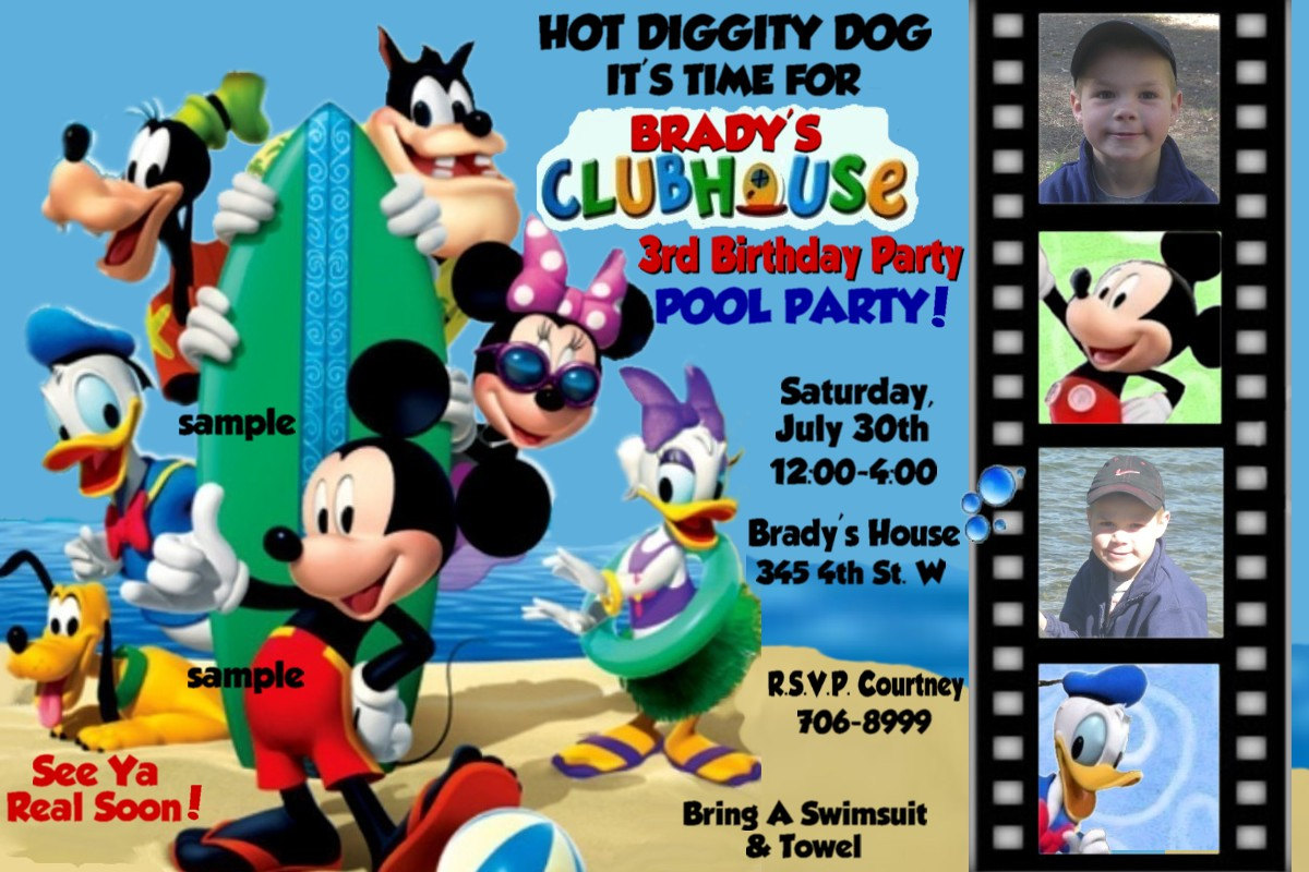 mickey mouse clubhouse photo birthday