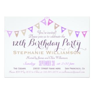 12 Year Old Birthday Invitations Dolanpedia Invitations