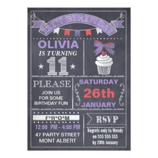 ideas about 11th birthday invitation wording