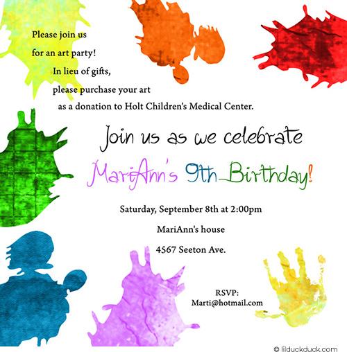 9 year old birthday invitation wording