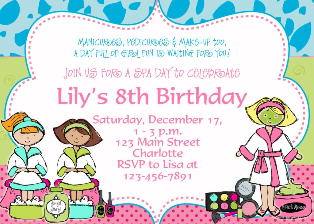 8th birthday party invitation wording