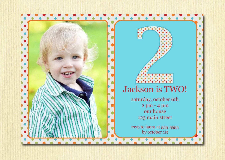2nd birthday invitation card template