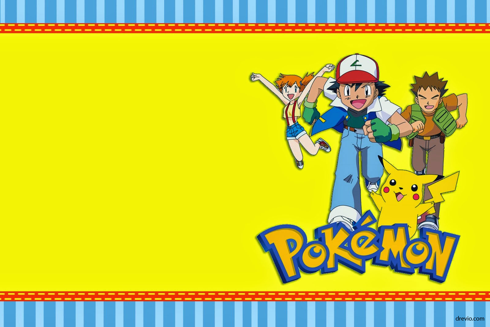 graphic relating to Free Printable Pokemon Birthday Invitations titled absolutely free printable pokemon birthday invites