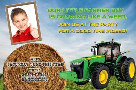 free john deere tractor invitation