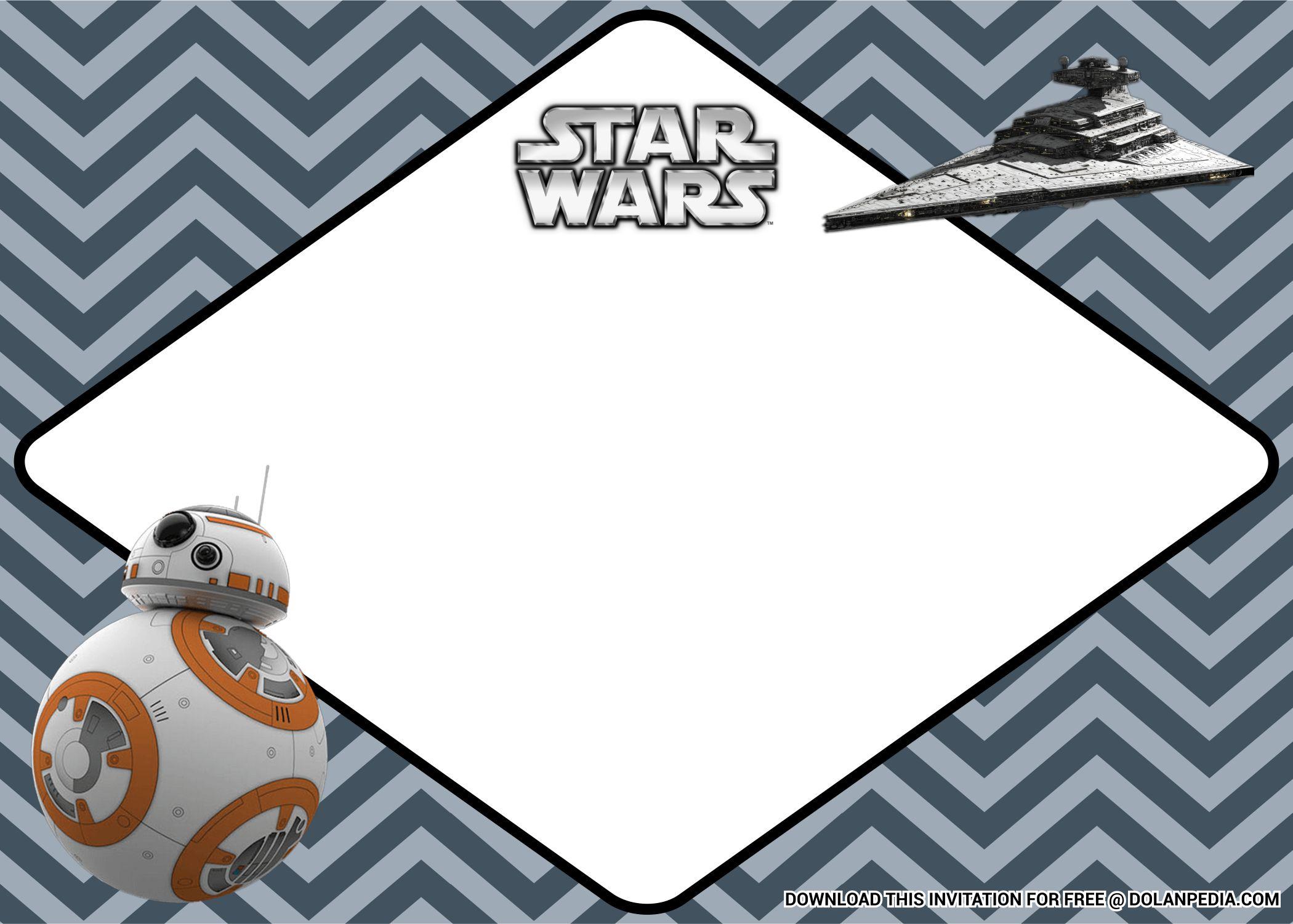 Free Printable Epic Star Wars Birthday Invitation Templates Dolanpedia