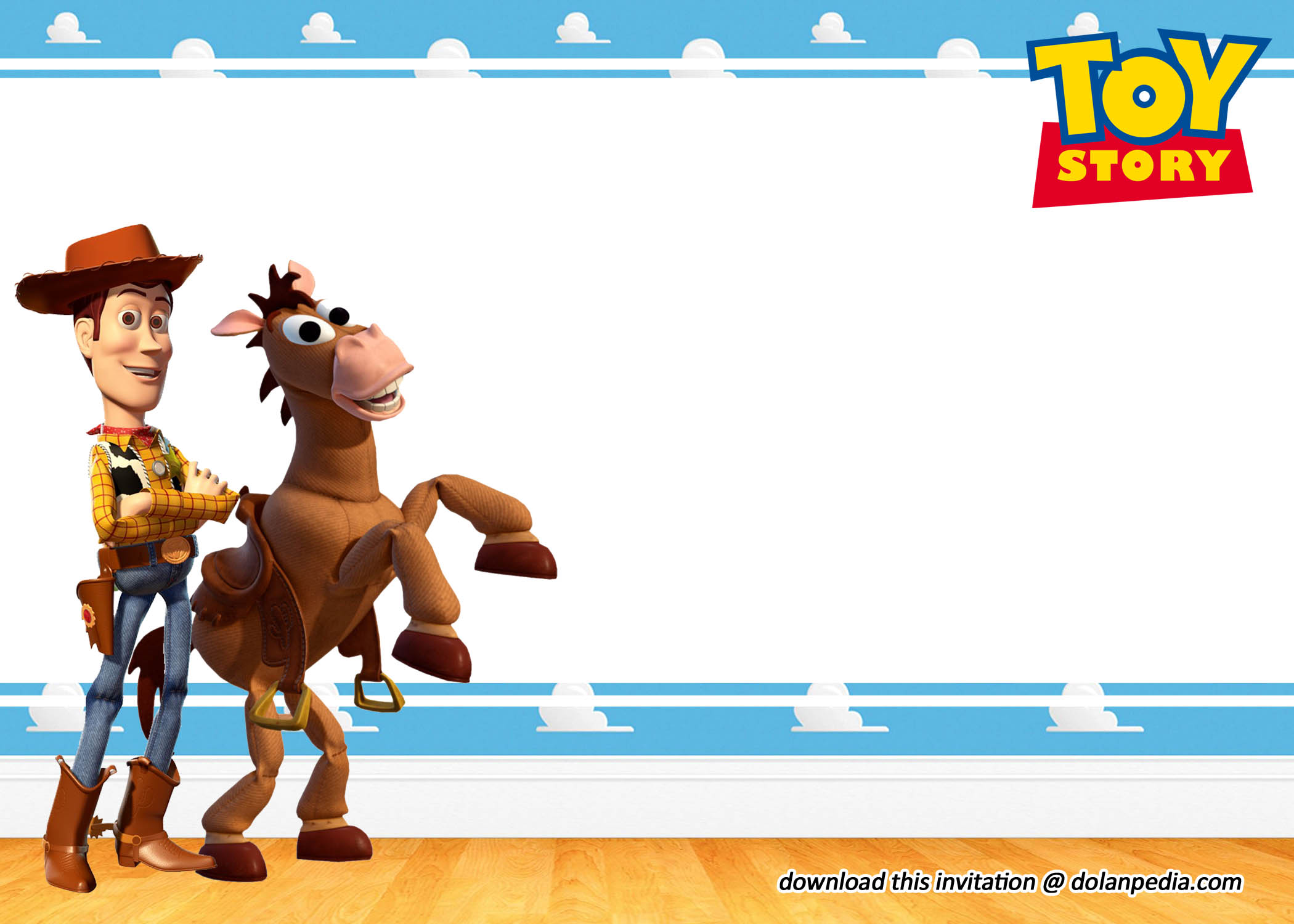 free editable toy story invitation