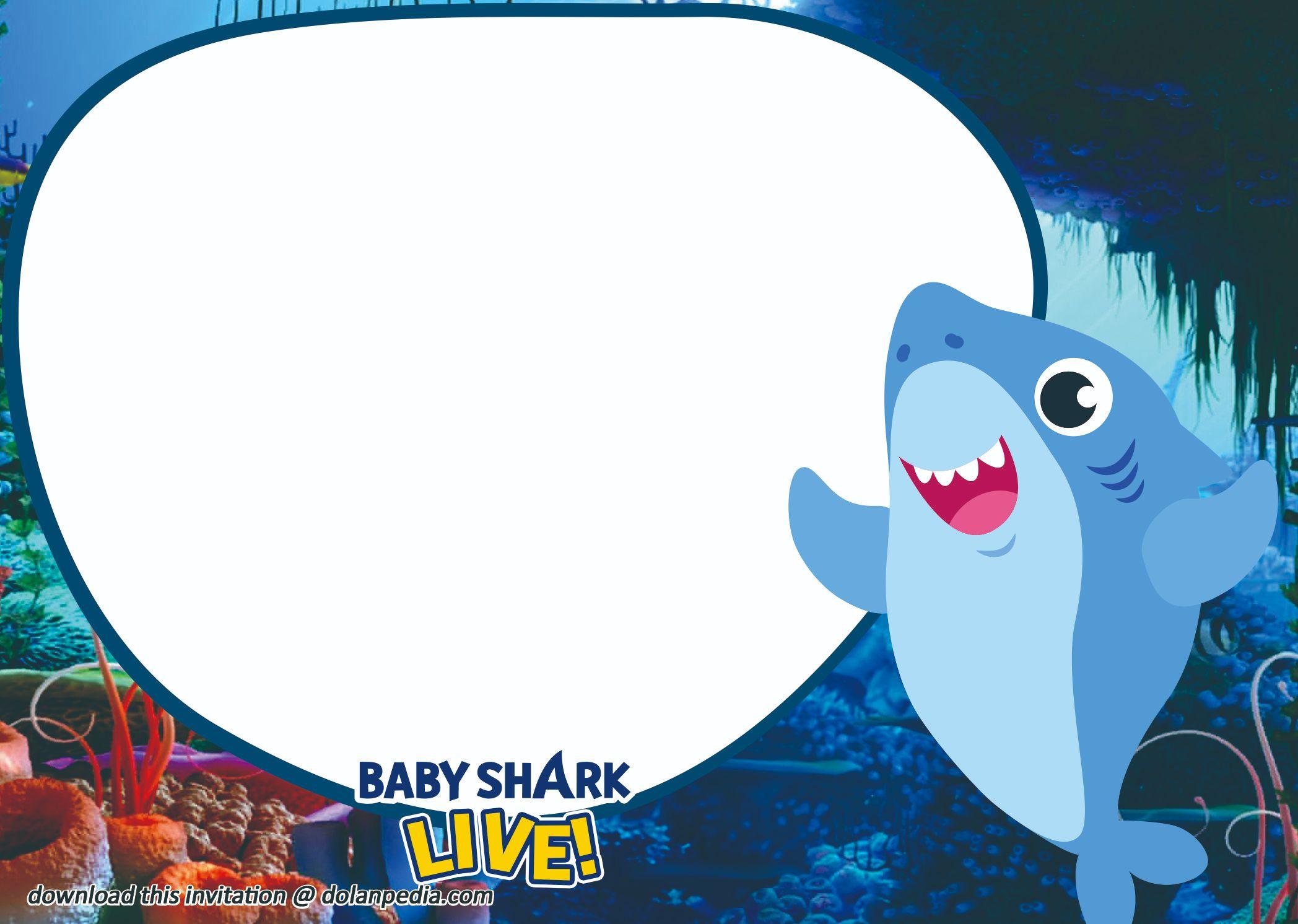 free baby shark birthday invitation