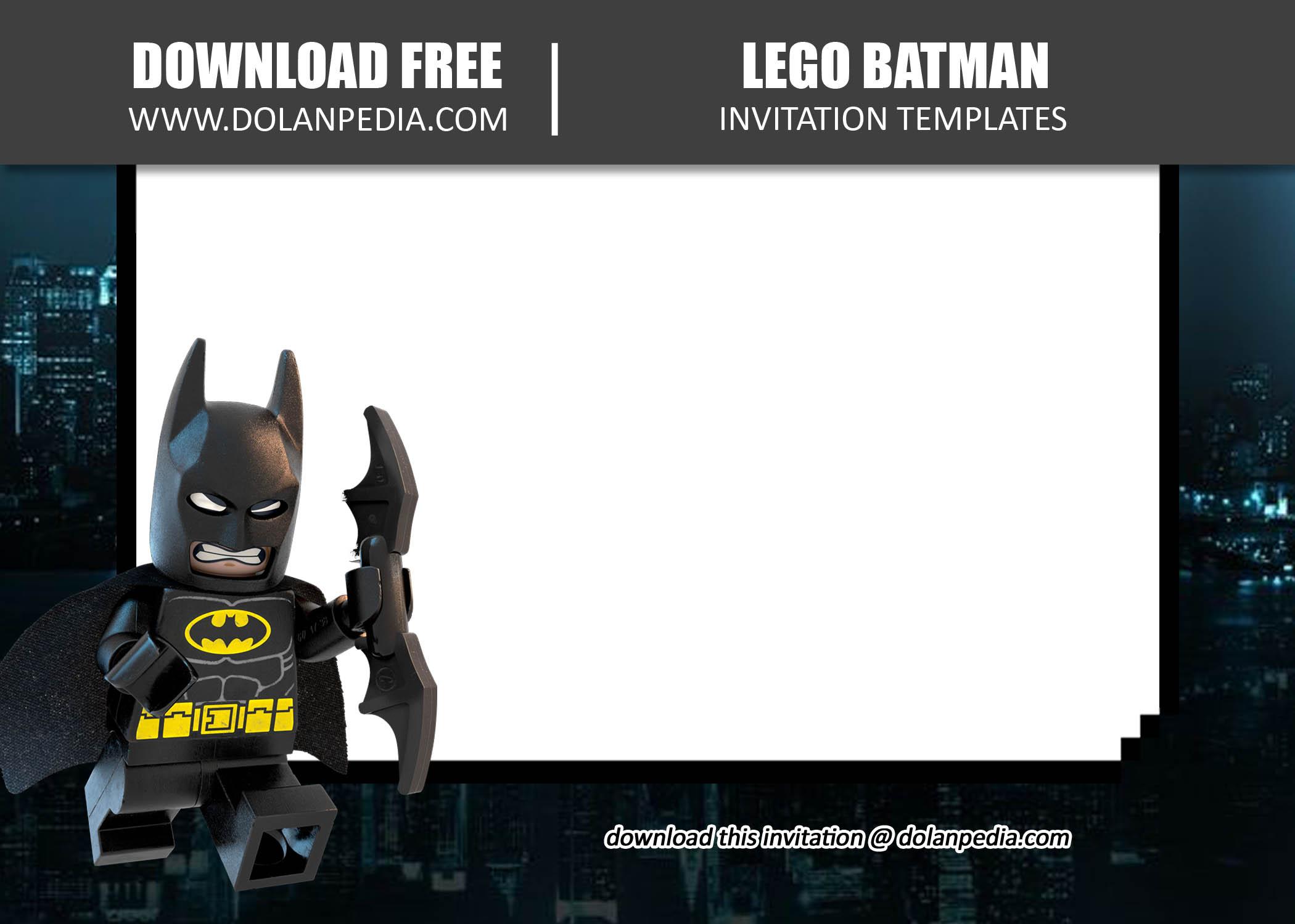 free printable lego batman invitation
