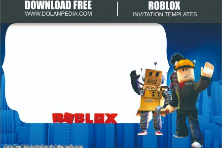 free printable roblox invitation