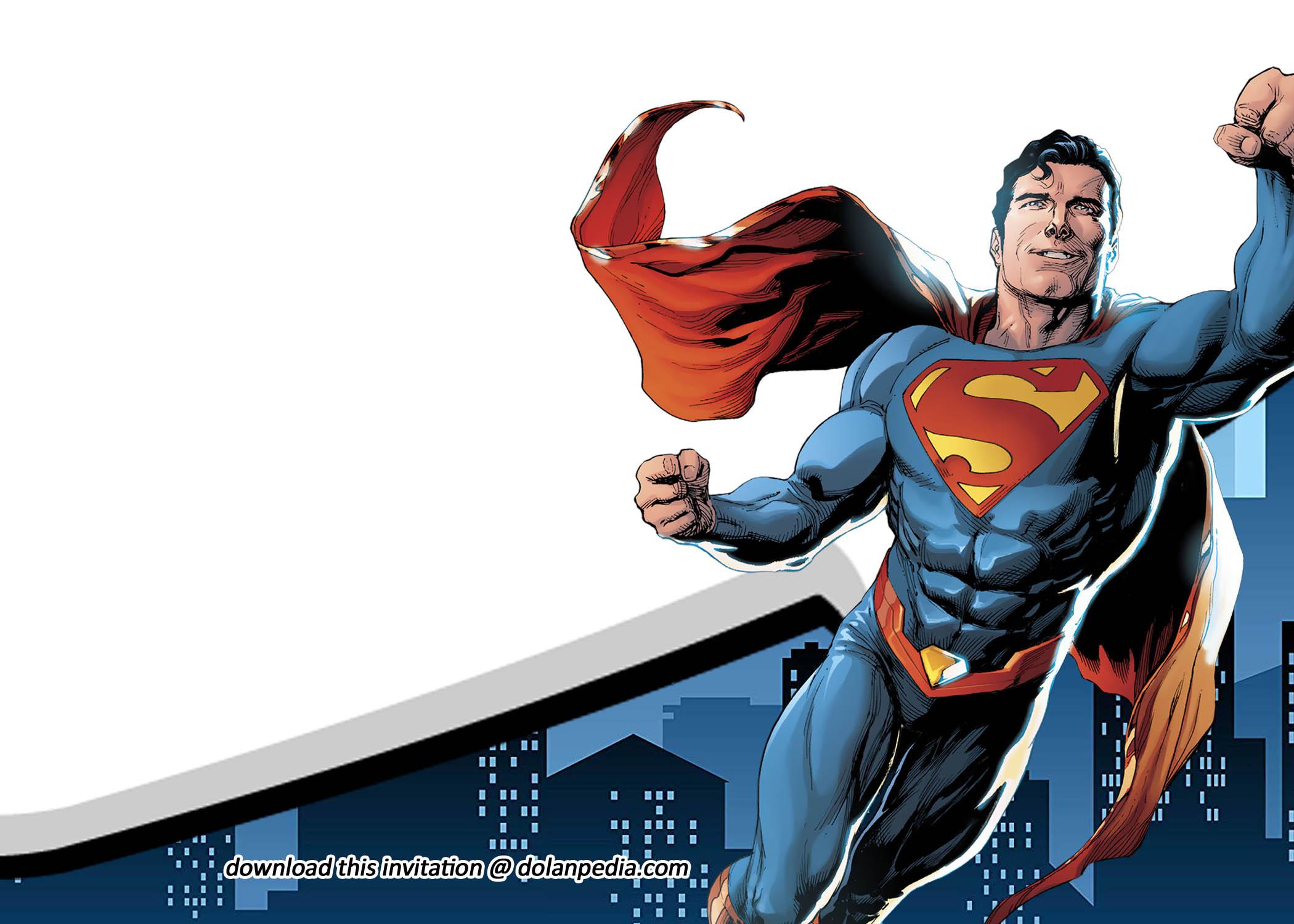 free printable superman birthday