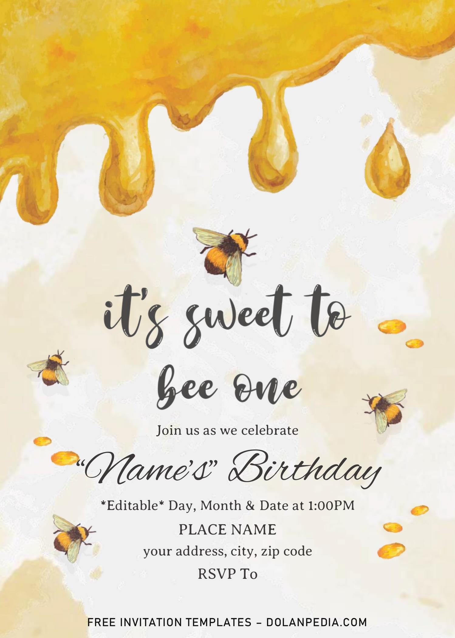first bee day birthday invitation