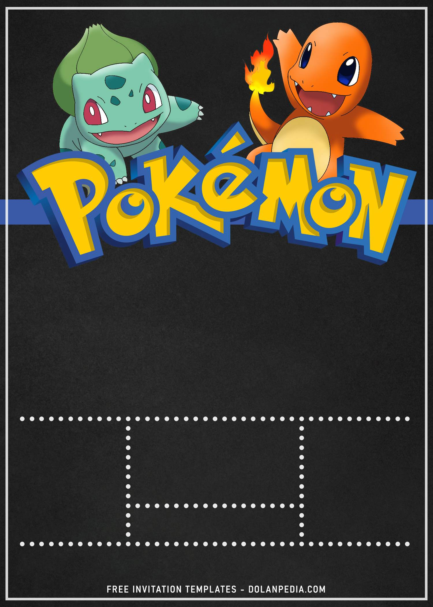 pokemon birthday invitation templates