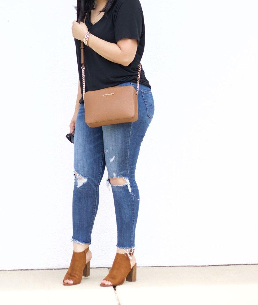 casual shirt jeans heels