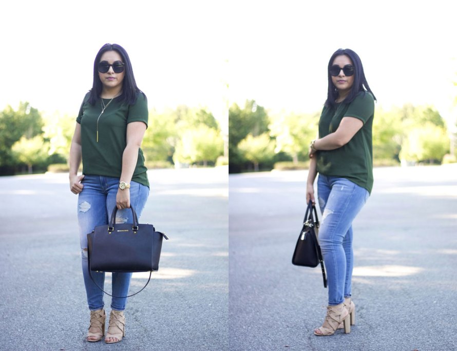 green top outfit