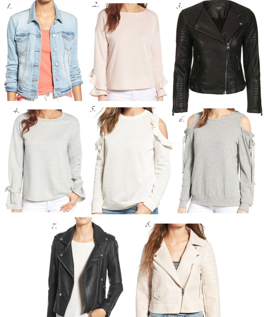 nordstrom half-yearly sale jackets sweaters