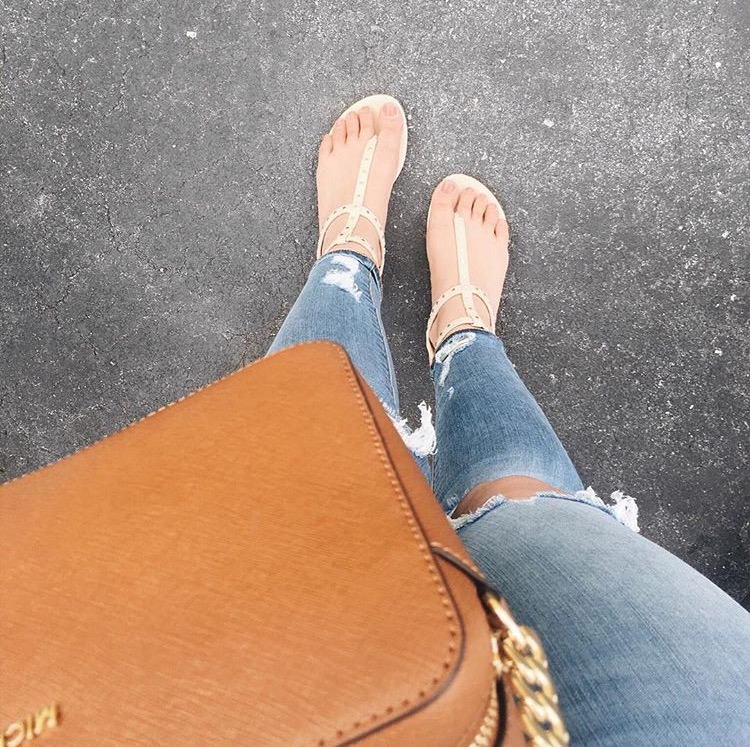 ripped denim spring sandals