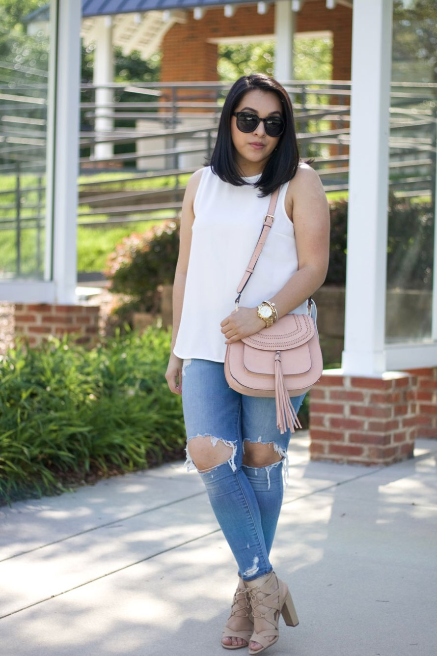 spring sandals white top