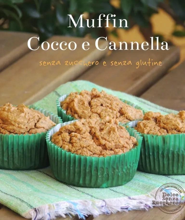 Muffin Farina di Cocco  e Cannella (Senza Glutine e Senza Zucchero)