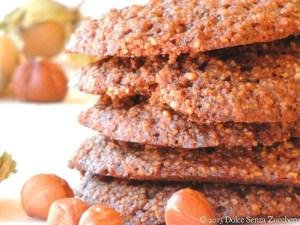 Biscotti e senza glutinecon Nocciole Naturali Senza Zucchero