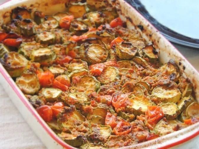 Zucchine Rustiche con Salsa di Salvia e Acciughe