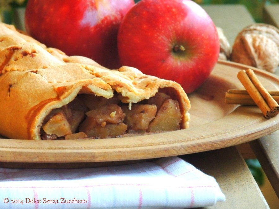 Strudel di mele senza farina e senza zucchero (4)