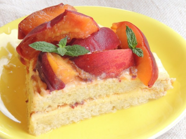 Torta Paleo con Crema, Mandorle e Pesche_3