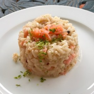 risotto lime salmon